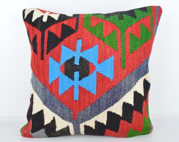 Wool Pillow, Kilim Pillow, KP1029,  Decorative Pillows, Designer Pillows,  Bohemian Decor, Bohemian Pillow, Accent Pillows, Throw Pillows