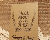20+ Custom Seed Packet Envelope Wild About Each Other DIY Seed Packet Custom Colour Wedding Favour Seeds Wildflowers Daisies Herbs Flower