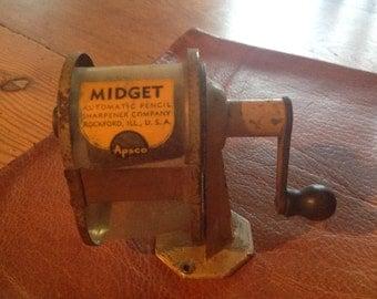 Apsco Midget Vintage Pencil Sharpener, c. 1950's