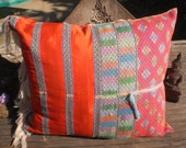 Beautiful Yummy Cushion Cover Made With Vintage Karen Hill Tribe Shirt