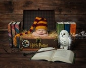 Harry Potter newborn hat. Elf hat. Harry Potter inspired. Newborn hat.