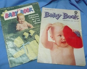 Vintage Crochet and Knitting Books, Star no. 96, 111, Babies