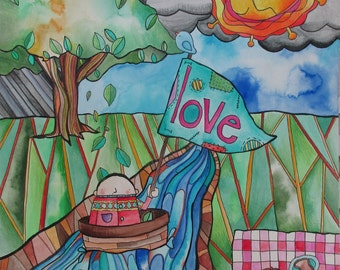 Love Boat and Sweater Weather - Original Drawing