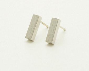 Bar stud earrings, Gold bar earrings, Silver Bar earrings, Rose gold bar earrings, Gifts under 20, Bar earrings, Gift for her, Minimal