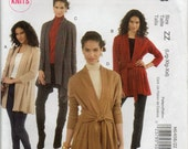 Stretch Knit Loose Fitting Jacket Seam And Hem Options Plus Size Lrg Xlg Xxlg Blazer Or Coat Sewing Pattern 2011 McCalls M6408