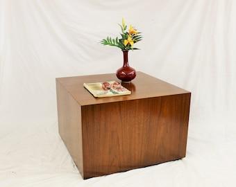 SALE Mid Century Modern Milo Baughman Cube  coffee table