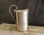 Vintage Hammered Aluminum Pitcher Vase