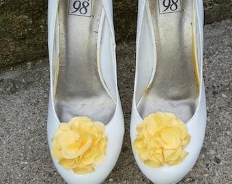 Yellow   Shoe Clips,  Wedding Shoe Clips, Rose Shoe Clips,  Roses, Bridal Shoe Clips, Shoe Clips, Clips for Wedding Shoes, Bridal SHoes