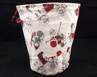 R/S Project bag 278 Knitting Sheep