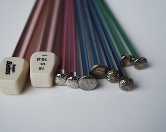 5 Pairs Vintage Aluminum Knitting Needles Susan Bates
