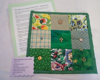 Green Daily Prayer Cloth with Hope as Theme