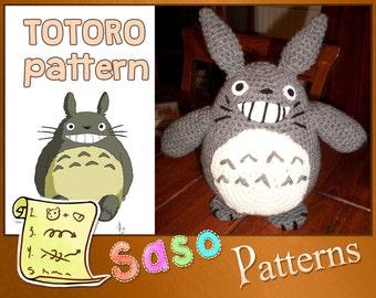 PATTERN - Totoro crochet plushie - PDF
