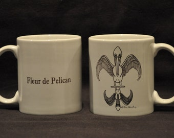 "Pelican Coffee Mug: ""Fleur de Pelican"""