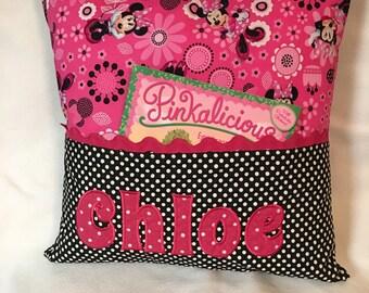 Minnie Hot Pink Pocket Book Pillow