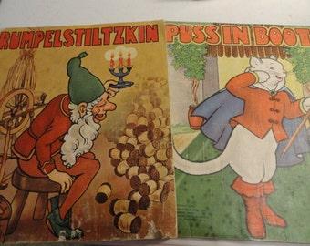 C150)  1940 Vintage Saalfield Cloth Childrens Books