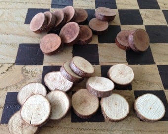 Hand Cut Twig Checkers, free shipping