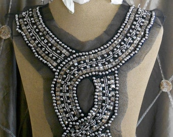 Champagne Stone Beaded Appliques