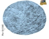 Classic Large Round Shaggy Faux Sheepskin Area Rug / Soft Luxury Faux Fur / Living Room / Kids Room / Dining Room / All Sizes and Colors