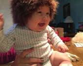Fun Fur Hats for Babies ~ Fur Baby Wig Hats  ~ Winter Baby Hats ~  Size & Color Choice ~ Photo Prop ~ Baby Hats