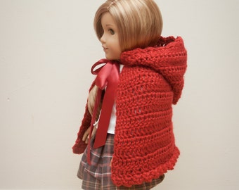 "Crochet Little Red Riding Hood  18"" Doll Pattern- INSTANT DOWNLOAD"