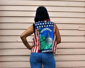 BACK 2 SCHOOL SALE Sale 90s America The Beautiful Vest