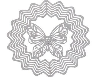 3 Butterfly Embellishment Pendants - Staniless Steel - Silver Tone - 50x49mm  - Ships IMMEDIATELY from California - SC1238