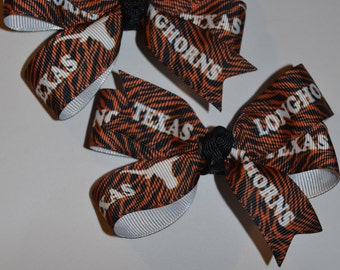 Set of Two Texas Hair Bows
