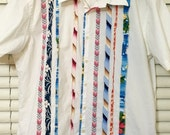 Vintage TOMMY HILFIGER Summer Vacation SHIRT 100% Cotton Unique Design