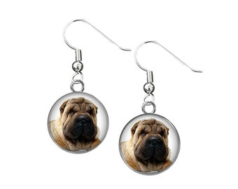 Shar Pei Dog Earrings