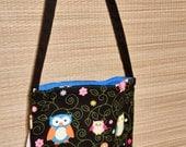 Child sized cotton owl purse