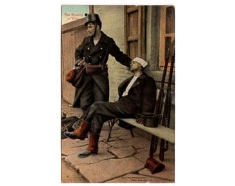 Realities of War, Wounded Belgian Soldier, Vintage World War One Postcard, WWI Post Card, W.C.A. Series 145, Postcard 3, WW1 Memorabilia