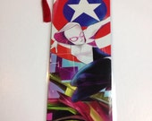 Upcycled Spider Gwen Comic Book Bookmark