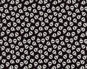 Skull Fabric, Glow in the Dark Skull Fabric, Timeless Treasures, Black Skull Fabric, Gothic Fabric, 01048A