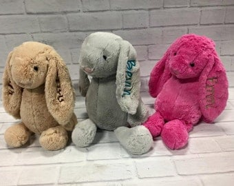 Plush Personalized Bunny, Monogrammed Jellycat