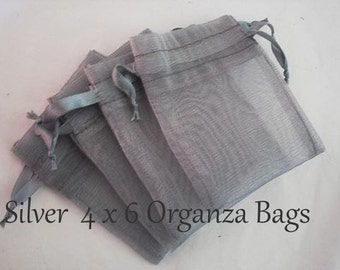 Grey Favor Pouches Gift Organza Bags for Wedding Party Baby Shower  30 Bags