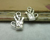 30pcs 13*19mm antique silver  toothbrush cup charms pendant  C7729