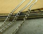 10meter(32foot) White K 2.5x3.5mm metal chain E1033