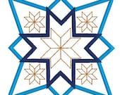 applique quilt block, embroidery design, embroidery download, instant download, applique embroidery, quilt block design, digitized file