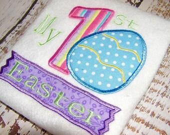 Easter applique embroidery design, Easter Egg applique, My first Easter, applique design, embroidery design, digital embroidery download