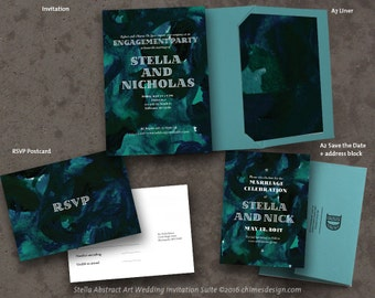 STELLA (Abstract Art) Invitation Suite Printables