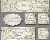 New etsy cover set * digital * WHITE WEDDING * etsy avatar * facebook cover * etsy banner *