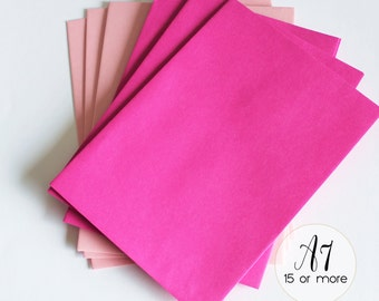 Pink Envelopes A7 Set Square Flap Baby Shower Envelope, Bubblegum Pink A6, Bridal Shower Env, 5 x 7 Invite Envelope Wedding Paper Extra (PE)