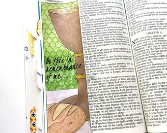Bible Journaling Bible Verse Art Bible Verse Print great for faith journals Art Journal, Holy Communion, 1 Corinthians 11