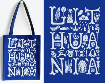 LITHUANIA Blue Tote Bag