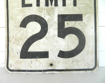 Vintage Speed Limit Sign Road Sign Industrial/ Retro/Midcentury modern/ Man Cave Decor