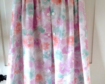 Vintage women's floral skirt size 14