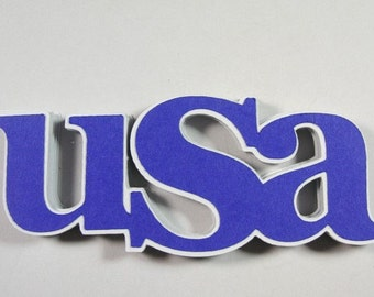 12 USA Scrapbook Embellishments, USA Patriotic Scrapbook Embellishments, Military Embellishment,