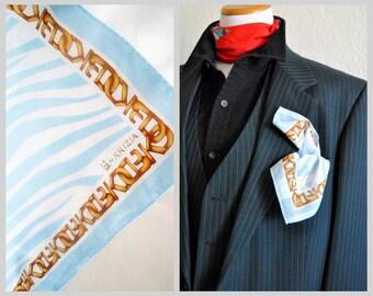 KRIZIA Mens Pocket Square Scarf Handkerchief Cotton Foulard Bandana Designer Neckwear Handbag Accessories
