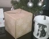 5 White Snowflakes Gift Boxes ,Mug Box, Made to Order, Christmas, Thank You gift Box, UK FREE SHIPPING