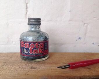 Vintage Ink Bottle - Triple Filtered - Blue
